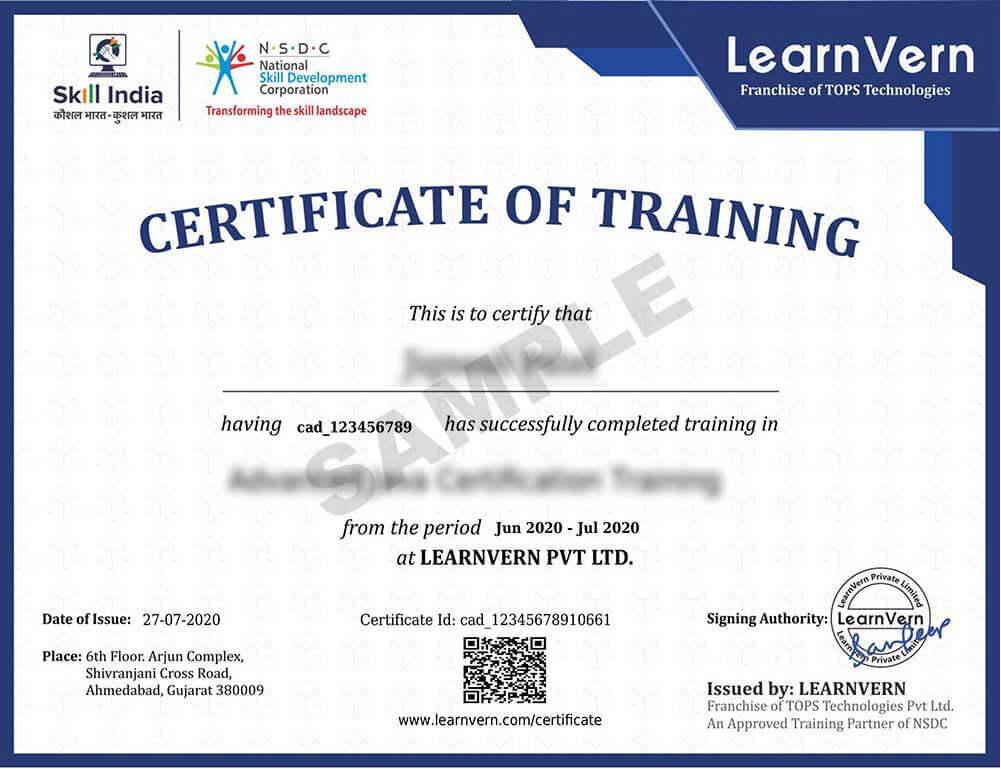 Sample Certificate Image